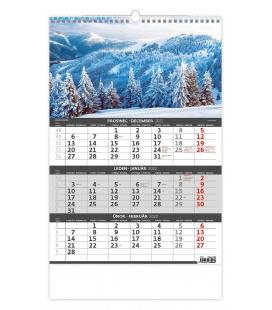 Wall calendar Mountains - 3 monthly / Hory -3měsíční/Hory - 3mesačné 2022