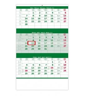 Wall calendar Green 3 monthly / Tříměsíční zelený 2022
