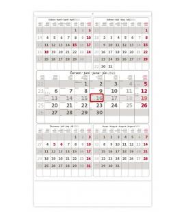 Wall calendar Grey 5 monthly / Pětiměsíční šedý 2022