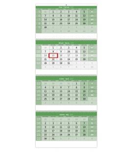 Wall calendar Green 4 monthly - folded  / Čtyřměsíční GREEN/Štvormesačný GREEN 2022