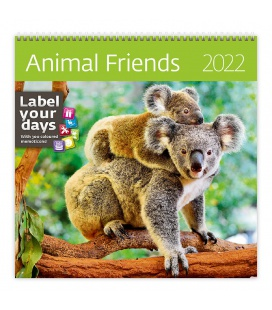 Wall calendar Animal Friends 2022