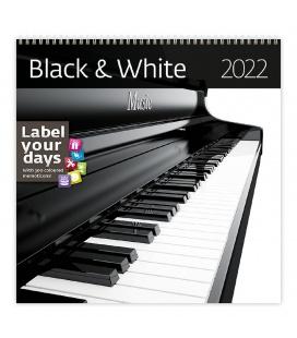 Wall calendar Black & White 2022