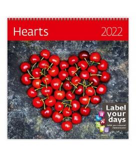 Wall calendar Hearts 2022
