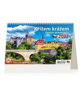 Table calendar Křížem krážem Českou republikou 2022