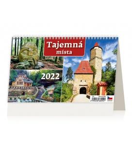 Table calendar Tajemná místa ČR 2022