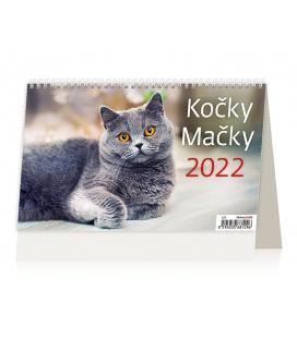 Table calendar Kočky/Mačky /s kočičími jmény/ 2022