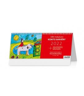 Table calendar Děti malují pro Konto Bariéry 2022