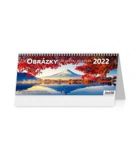 Table calendar Obrázky ze světa/Obrázky zo sveta 2022