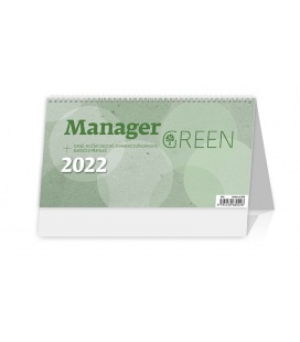 Table calendar Manager Green 2022