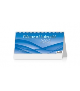 Table calendar Plánovací kalendář MODRÝ 2022