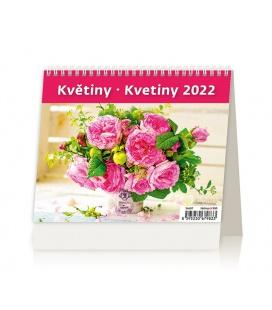 Table calendar MiniMax Květiny/Kvetiny 2022