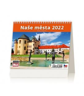 Table calendar MiniMax Naše města 2022