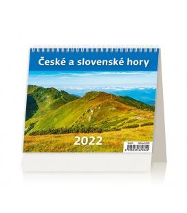 Table calendar MiniMax České a slovenské hory 2022