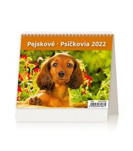 Table calendar MiniMax Pejskové/Psíčkovia /s psími jmény/ 2022
