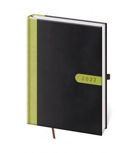 Daily Diary A5 Bora black, green 2022