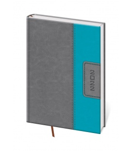 Daily Diary A5 Classic grey, turquoise 2022