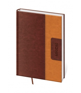 Daily Diary A5 Classic brown, brown 2022
