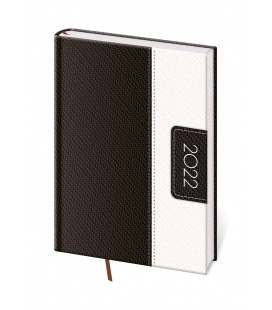 Daily Diary A5 Erie white, black 2022