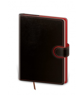 Daily Diary A5 Flip black, red 2022