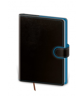 Daily Diary A5 Flip black, blue 2022