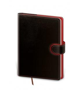 Daily Diary B6 Flip black, red 2022