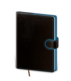 Daily Diary B6 Flip black, blue 2022