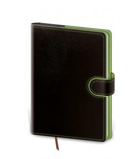 Daily Diary B6 Flip black, green 2022