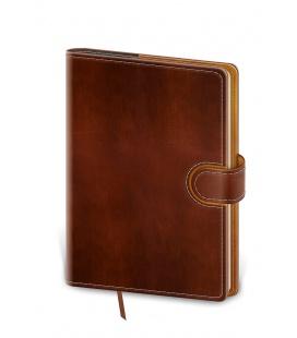 Daily Diary B6 Flip brown, brown 2022