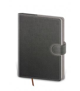 Daily Diary B6 Flip grey, grey 2022