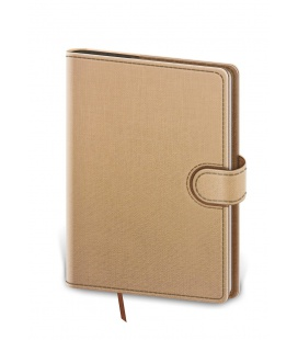 Daily Diary B6 Flip beige, brown 2022