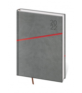 Daily Diary A5 Grife grey, red 2022