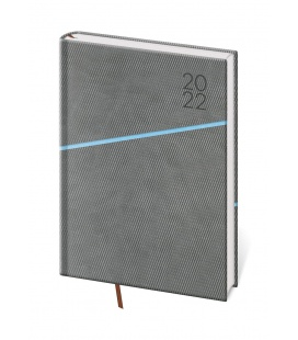 Weekly Diary A5 Grife grey, blue 2022