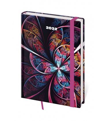 Daily Diary A5 Vario - Mandala s gumičkou 2022