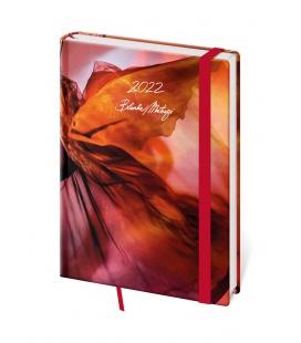 Daily Diary A5 Vario - Matragi Red s gumičkou 2022