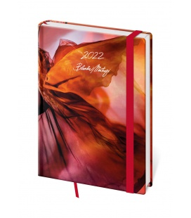 Weekly Diary A5 Vario - Matragi Red s gumičkou 2022