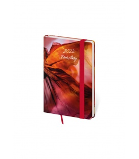Weekly Pocket Diary Vario - Matragi Red s gumičkou 2022