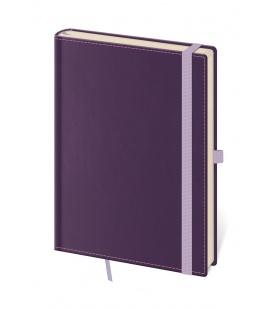 Notepad - Zápisník Double Violet - lined L purple 2022
