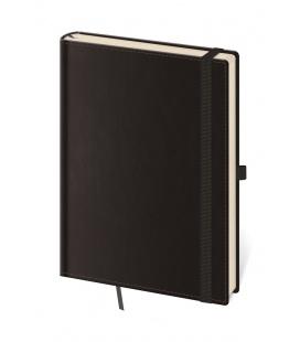 Notepad - Zápisník Double Black - lined L black 2022