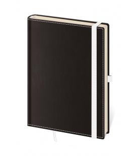 Notepad - Zápisník Black White - lined M black, white 2022