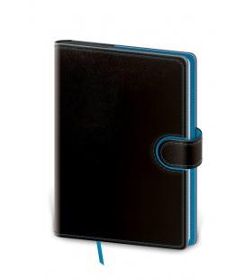 Notepad - Zápisník Flip A5 unlined black, blue 2022
