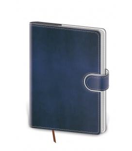 Notepad - Zápisník Flip A5 unlined blue, white 2022