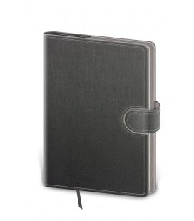 Notepad - Zápisník Flip A5 unlined grey, grey 2022