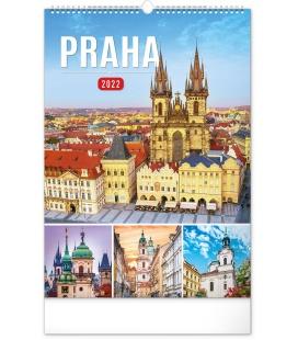 Wall calendar Prague 2022