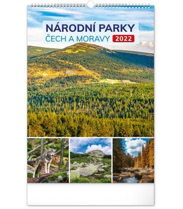 Wall calendar National Parks of Bohemia and Moravia 2022