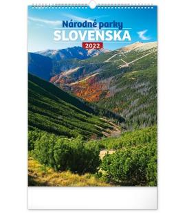 Wall calendar National Parks of Slovakia 2022