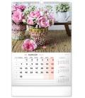 Wall calendar Flowers 2022