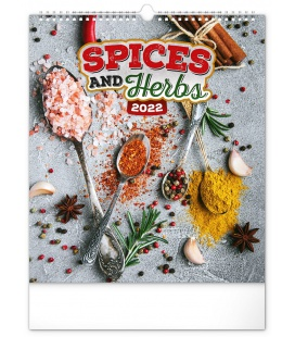 Wall calendar Spices and Herbs 2022