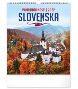 Wall calendar Sights of Slovakia 2022