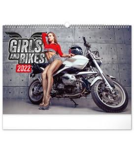 Wall calendar Girls & Bikes 2022
