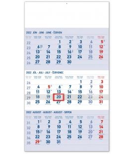 Wall calendar 3months Standard blue with Slovak names 2022